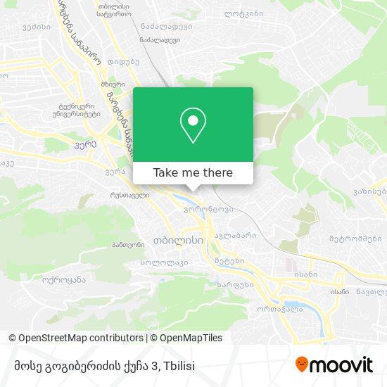 მოსე გოგიბერიძის ქუჩა 3 map