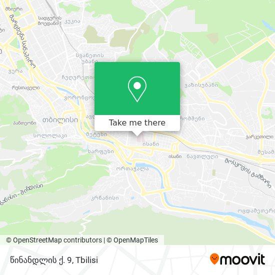 წინანდლის ქ. 9 map