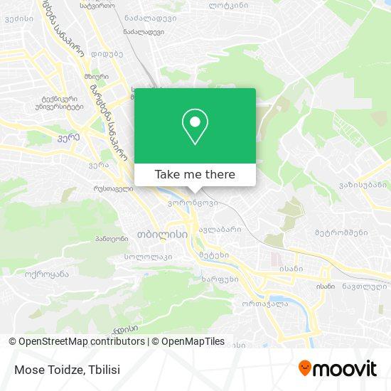 Mose Toidze map