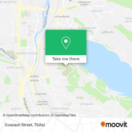 Gvazauri Street map