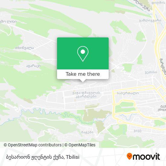 ბესარიონ ჟღენტის ქუჩა map