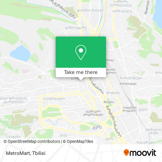 MetroMart map