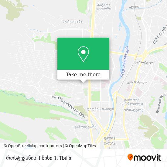 როსტევანის II ჩიხი 1 map
