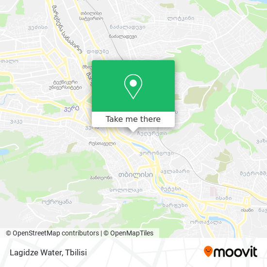 Lagidze Water map