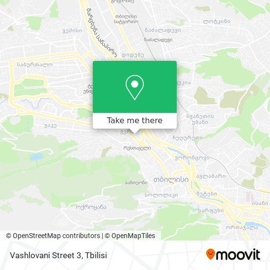 Vashlovani Street 3 map
