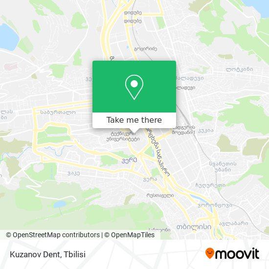 Kuzanov Dent map