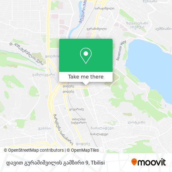დავით გურამიშვილის გამზირი 9 map
