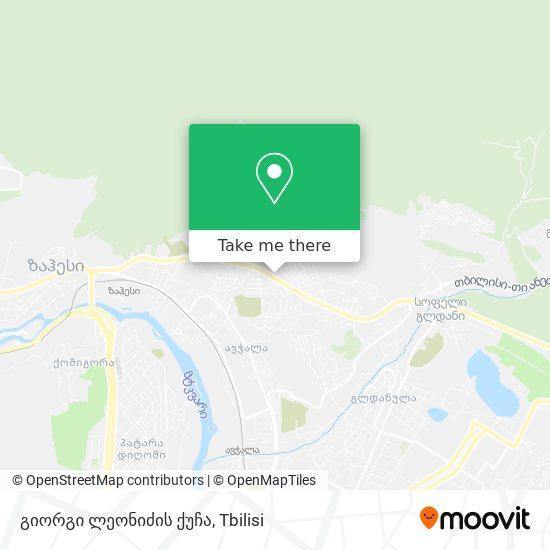 გიორგი ლეონიძის ქუჩა map