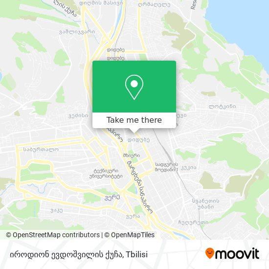 იროდიონ ევდოშვილის ქუჩა map