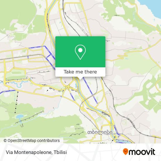Via Montenapoleone map