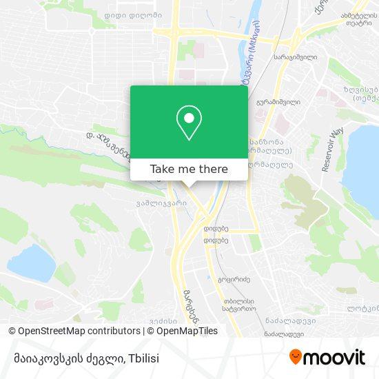 მაიაკოვსკის ძეგლი map
