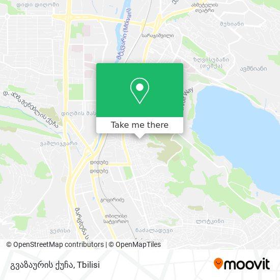 გვაზაურის ქუჩა map