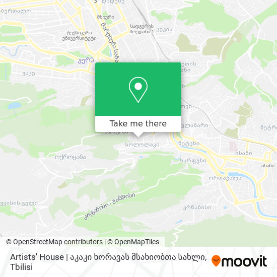Artists' House   აკაკი ხორავას მსახიობთა სახლი map
