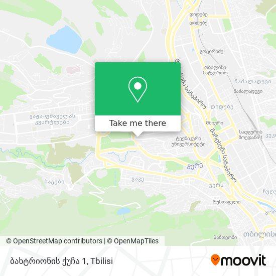 ბახტრიონის ქუჩა 1 map