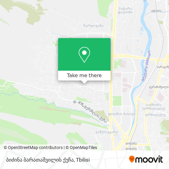 ბიძინა ბარათაშვილის ქუჩა map