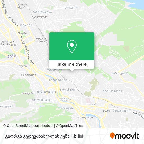 გიორგი გედევანიშვილის ქუჩა map