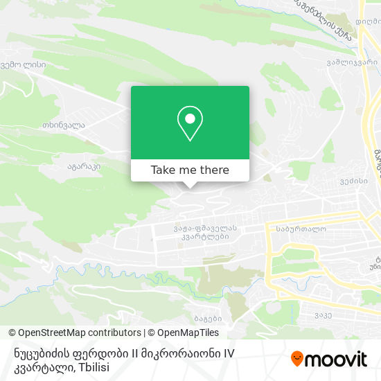ნუცუბიძის ფერდობი II მიკრორაიონი IV კვარტალი map