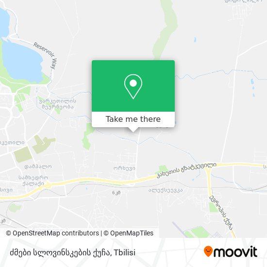 ძმები სლოვინსკების ქუჩა map