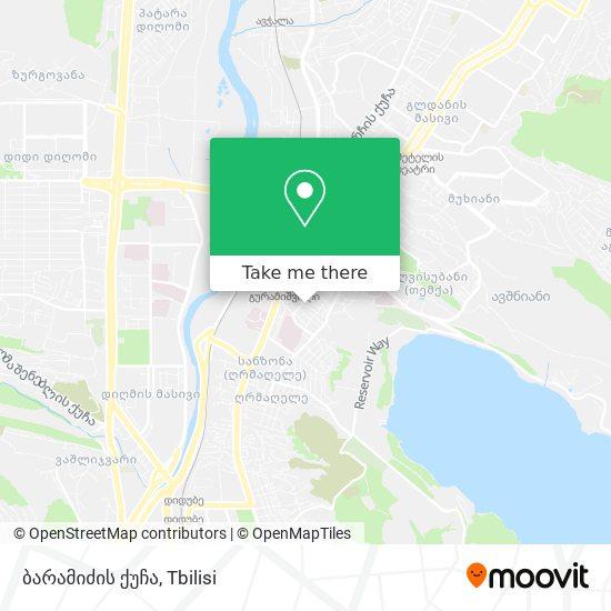 ბარამიძის ქუჩა map