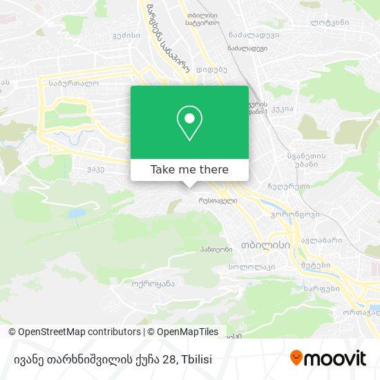 ივანე თარხნიშვილის ქუჩა 28 map
