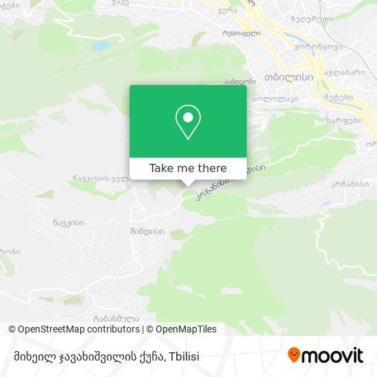 მიხეილ ჯავახიშვილის ქუჩა map