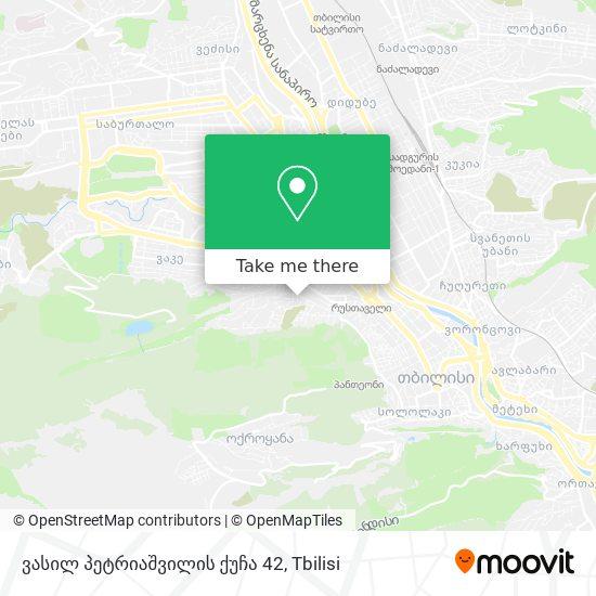 ვასილ პეტრიაშვილის ქუჩა 42 map