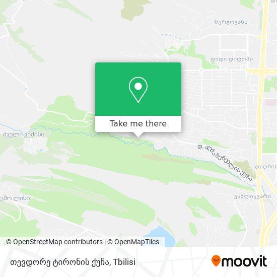 თევდორე ტირონის ქუჩა map