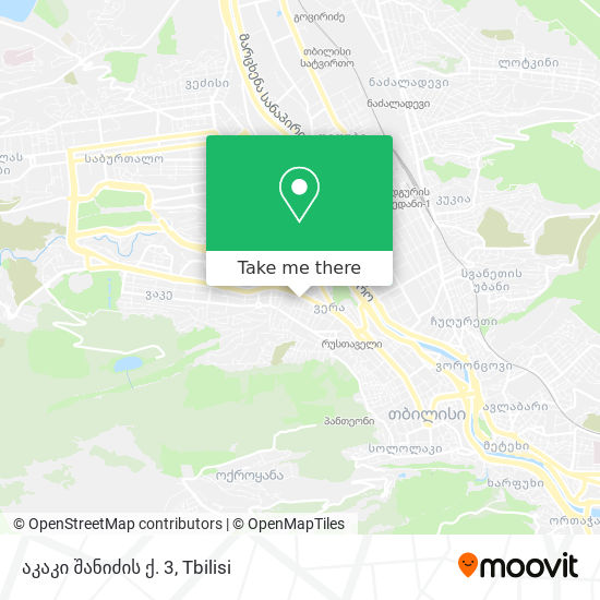 აკაკი შანიძის ქ. 3 map