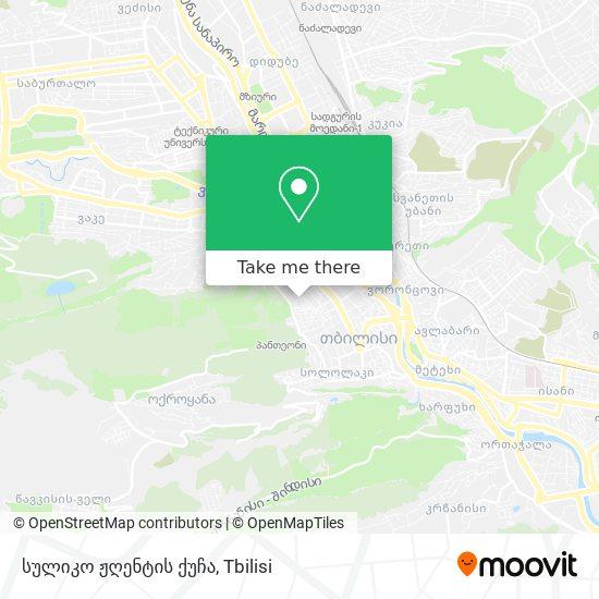 სულიკო ჟღენტის ქუჩა map