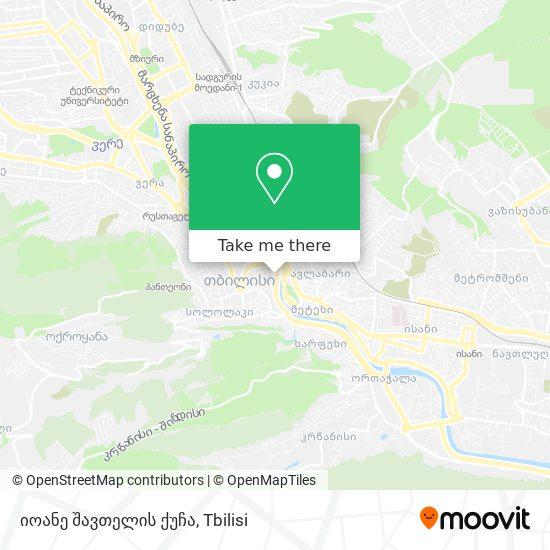 იოანე შავთელის ქუჩა map