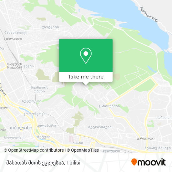 მახათას მთის ეკლესია map