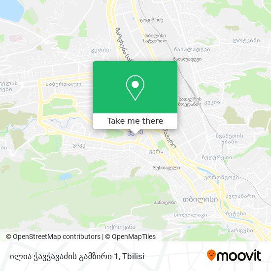 ილია ჭავჭავაძის გამზირი 1 map