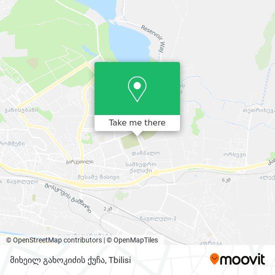 მიხეილ გახოკიძის ქუჩა map
