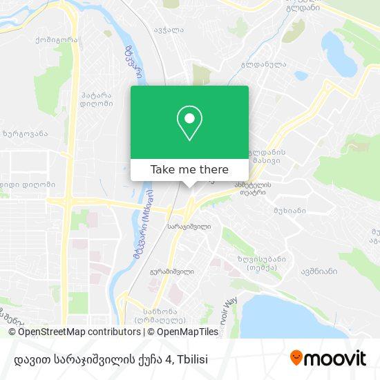 დავით სარაჯიშვილის ქუჩა 4 map
