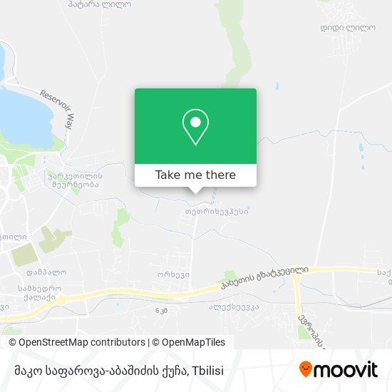 Карта მაკო საფაროვა-აბაშიძის ქუჩა