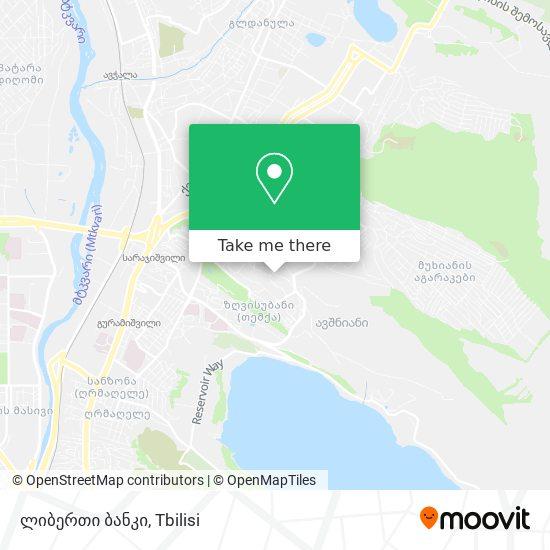 ლიბერთი ბანკი map