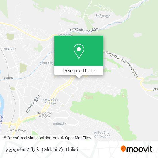 Gldani 7th. District გლდანის Vii მიკრორაიონი map