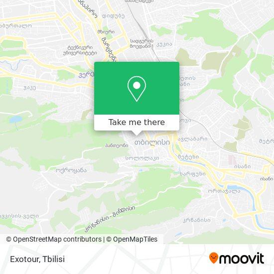 Exotour Travel map