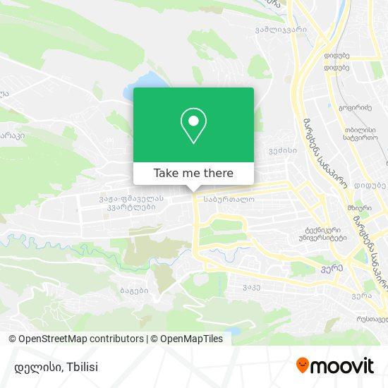 დელისი (Delisi) map