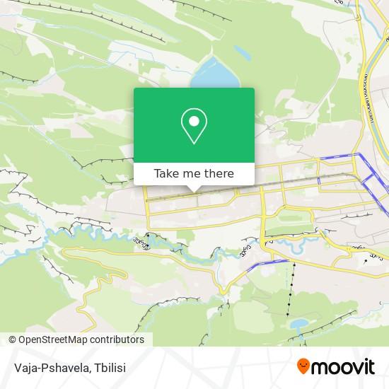 Vaja-Pshavela map