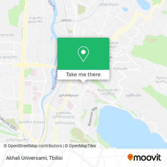 Akhali Universami map
