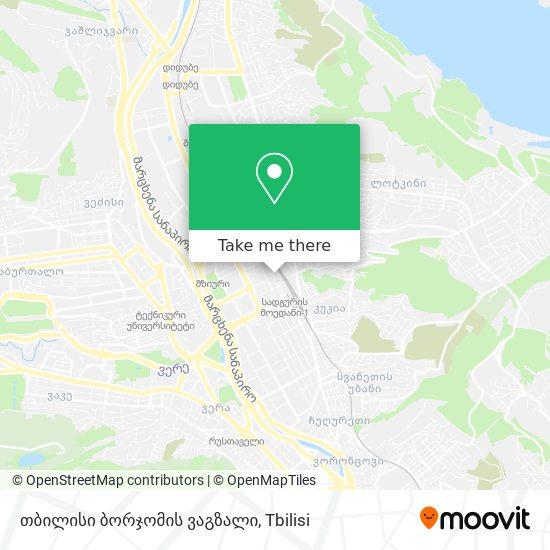 თბილისი ბორჯომის ვაგზალი (Tbilisi Borjomis Vagzali) map