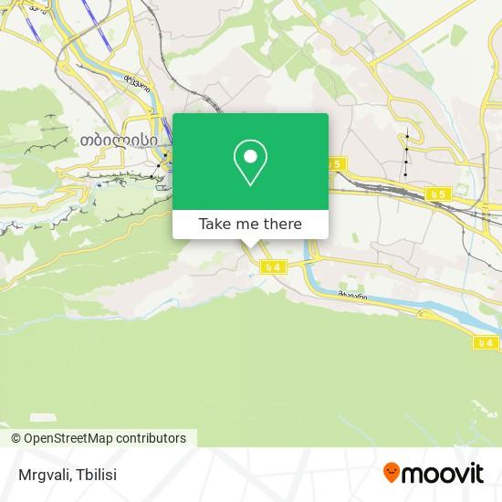 Mrgvali map