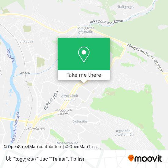 """სს """"თელასი"""" Jsc """"Telasi"""" map"""