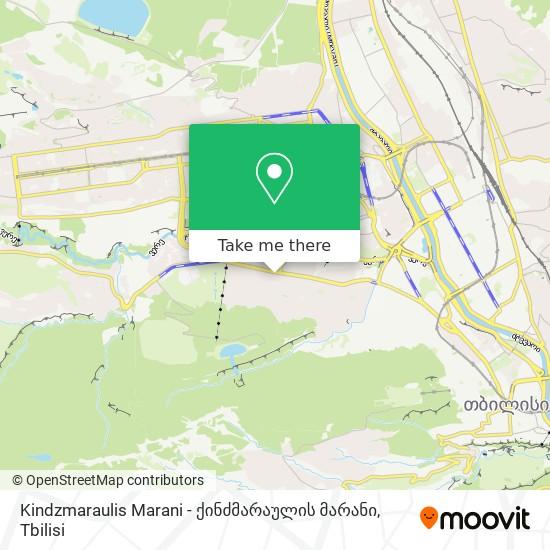 Kindzmaraulis Marani - ქინძმარაულის მარანი map