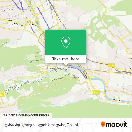 ვახტანგ გორგასალის მოედანი map