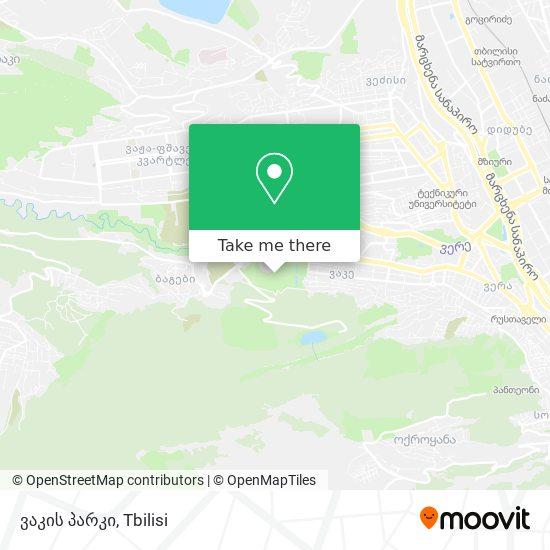 ვაკის პარკი map