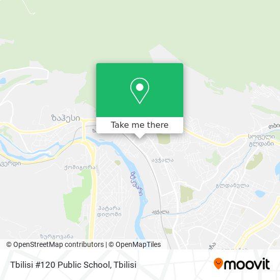 Tbilisi #120 Public School map