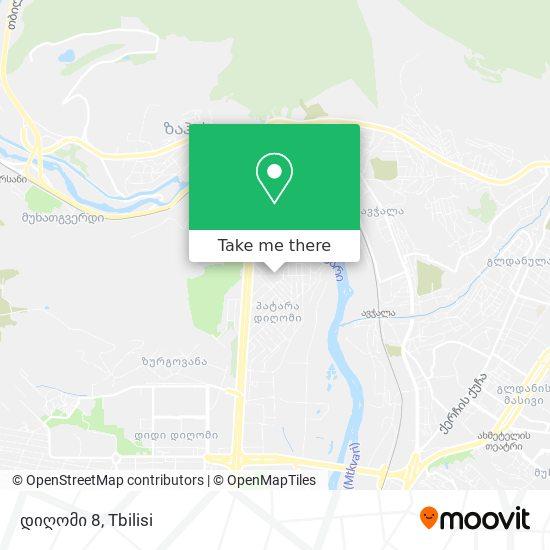 დიღომი 8 map