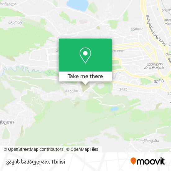 ვაკის სასაფლაოზე map